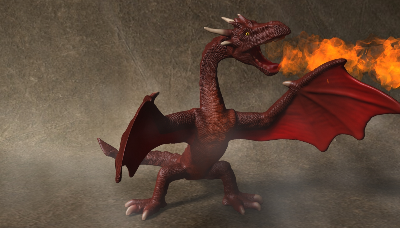 red dragon rigged 3d model max fbx  obj 224255