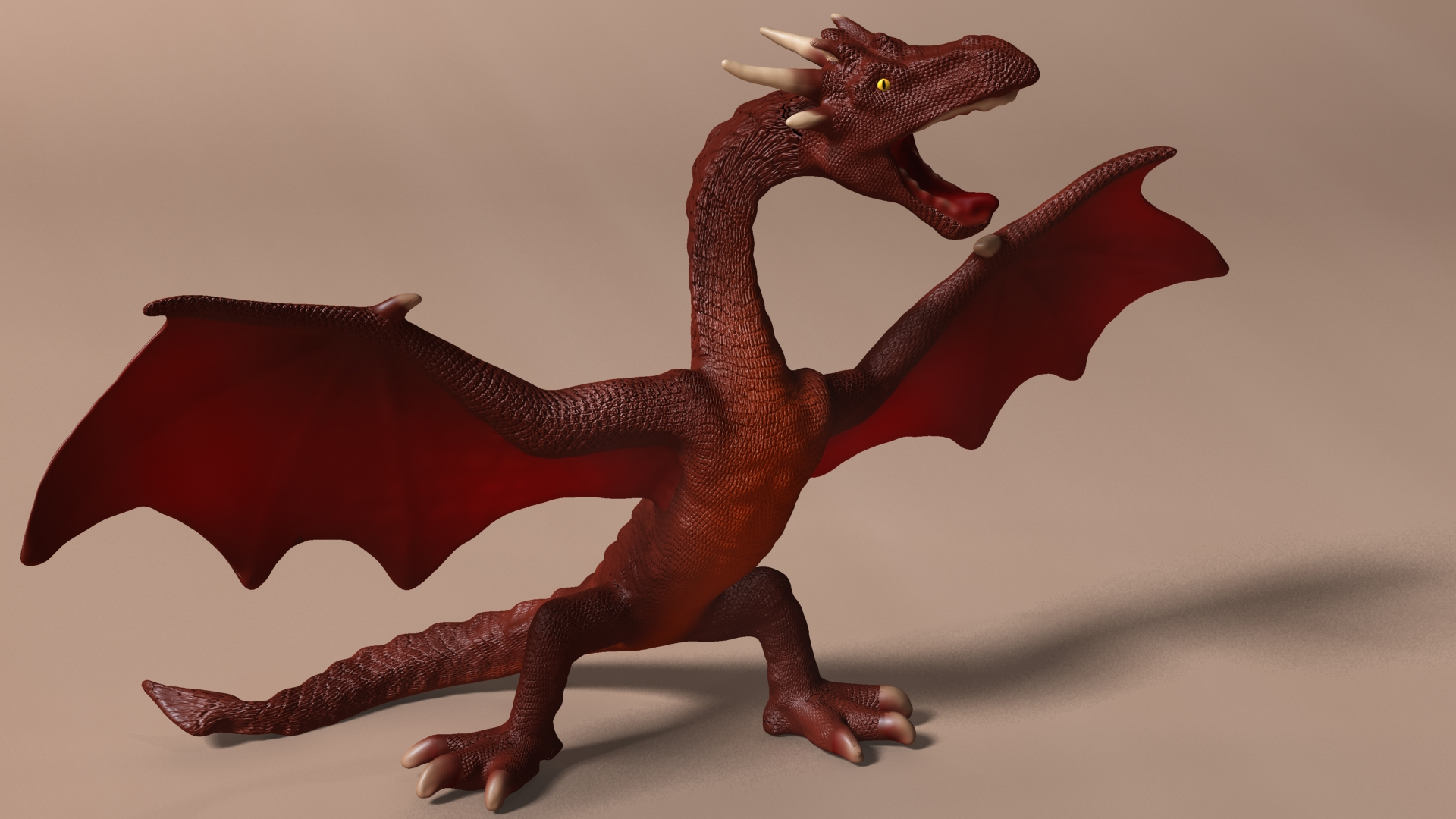 red dragon rigged 3d model max fbx  obj 224256