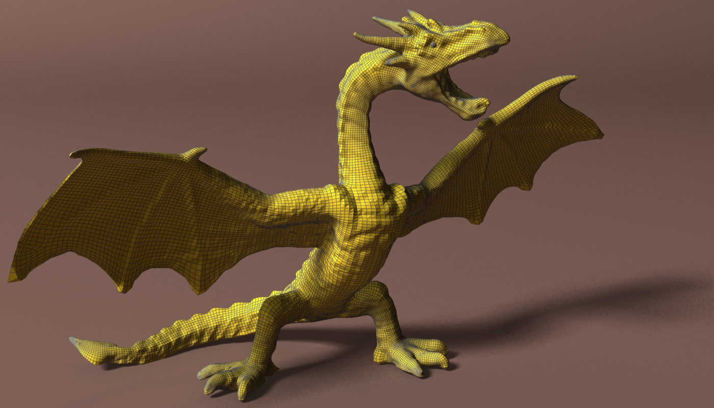 red dragon rigged 3d model max fbx  obj 224258