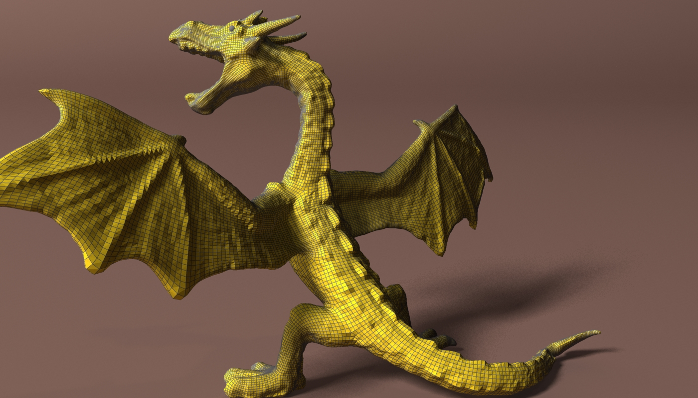 red dragon rigged 3d model max fbx  obj 224259