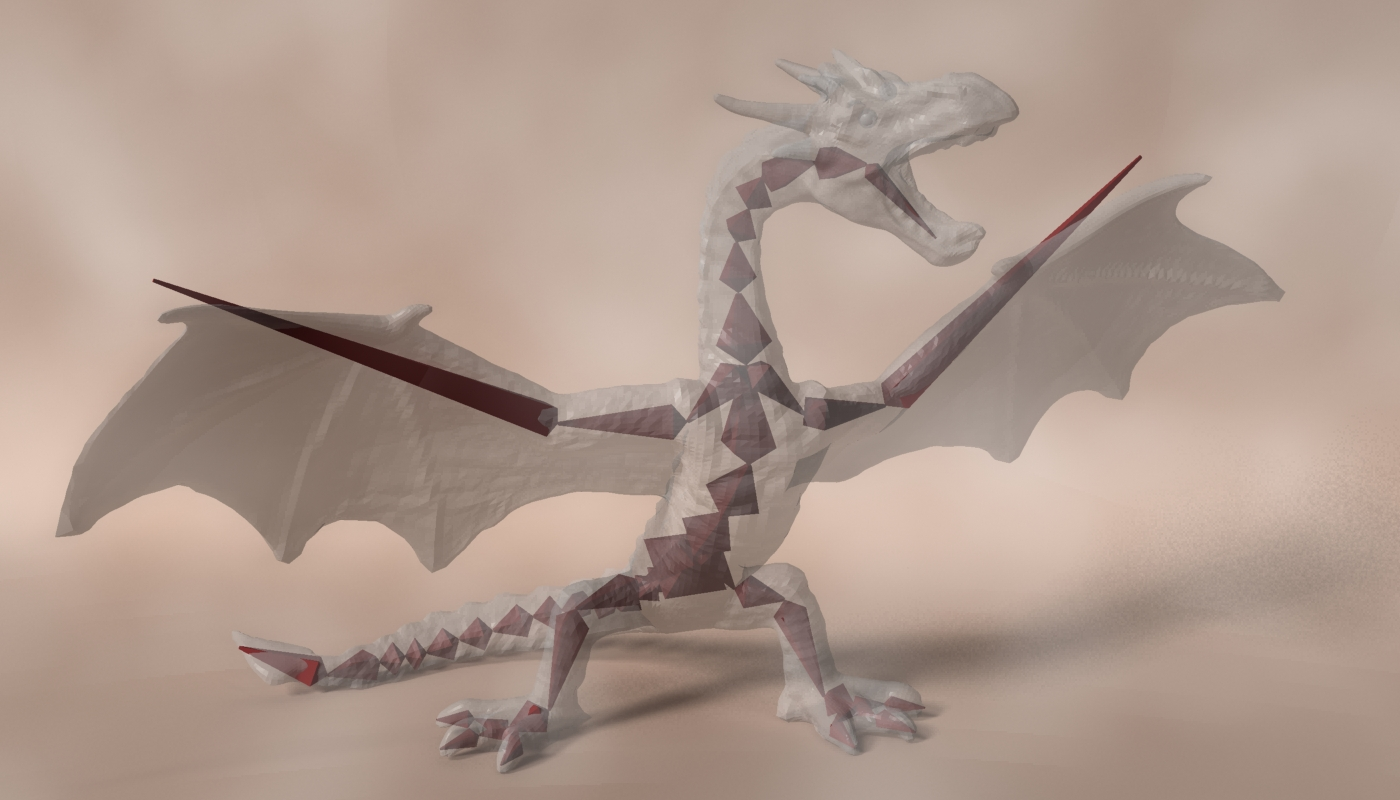 red dragon rigged 3d model max fbx  obj 224260