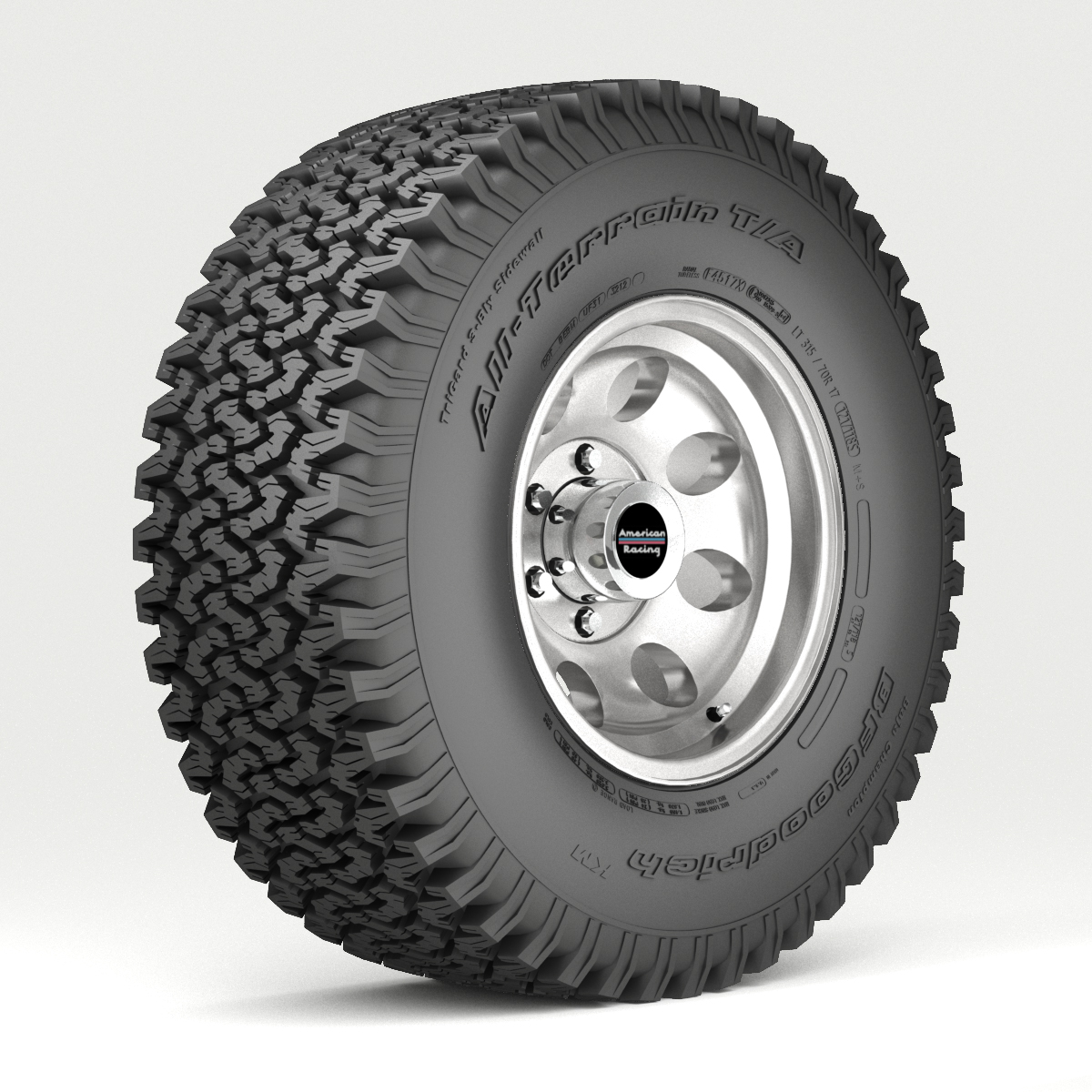 off road wheel and tire 3d model 3ds max fbx obj 224390