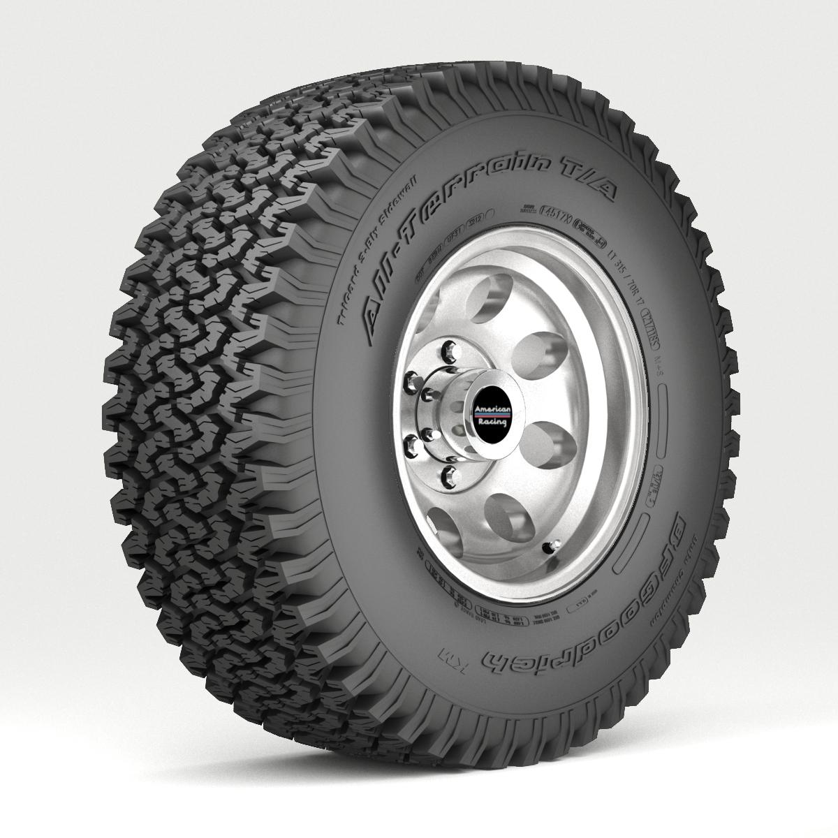 Off road wheel and tire 3d model 3ds max fbx tga targa icb vda vst pix obj 224390