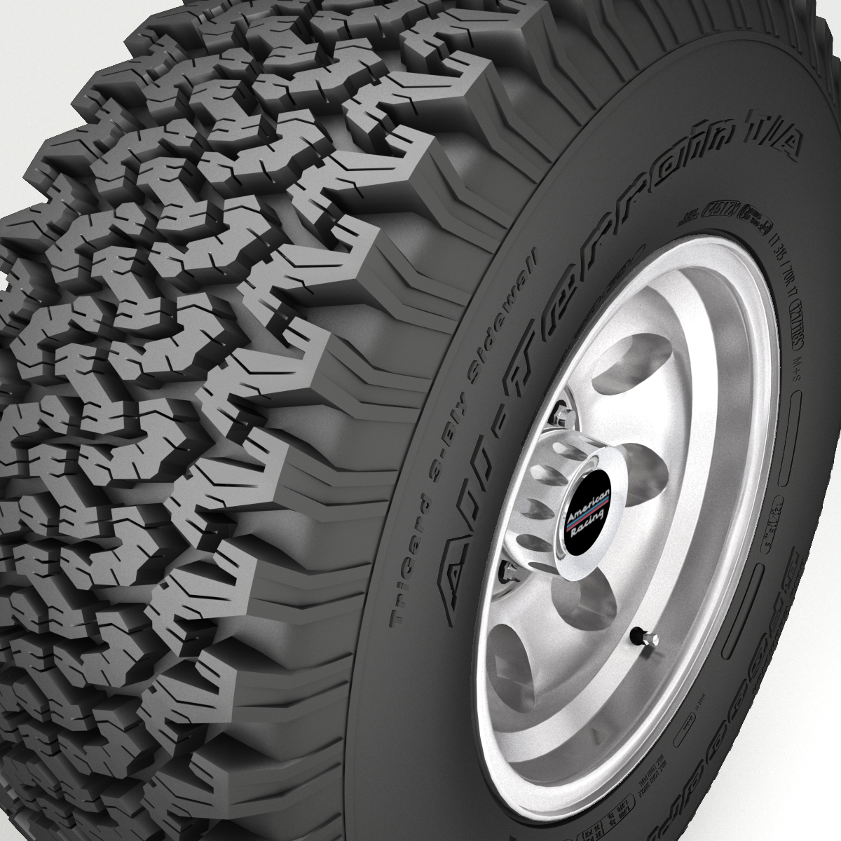 off road wheel and tire 3d model 3ds max fbx obj 224391