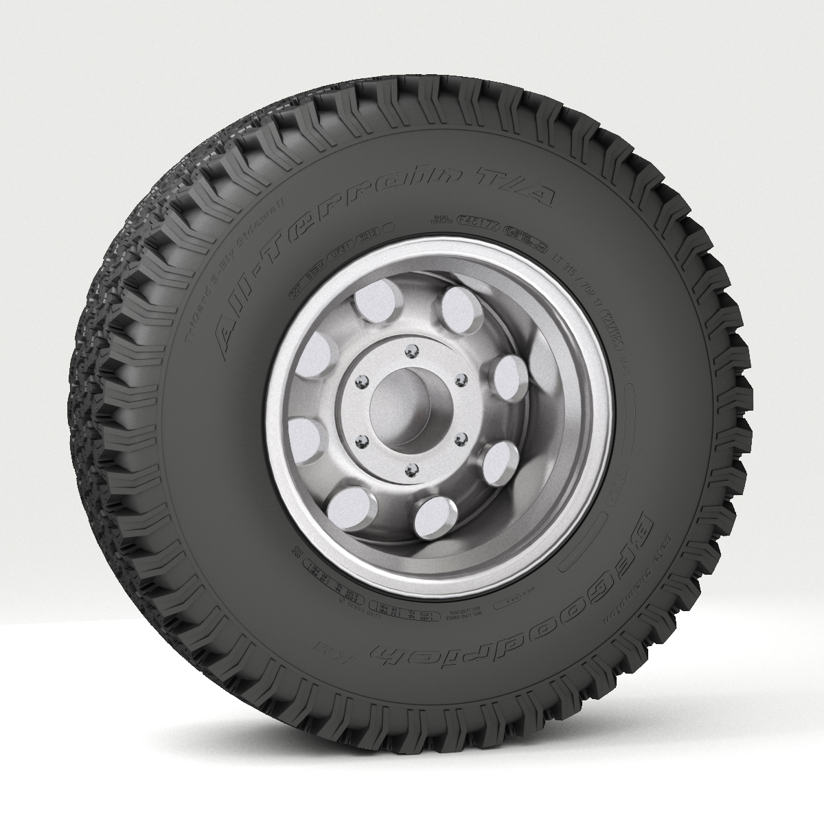 off road wheel and tire 3d model 3ds max fbx obj 224393