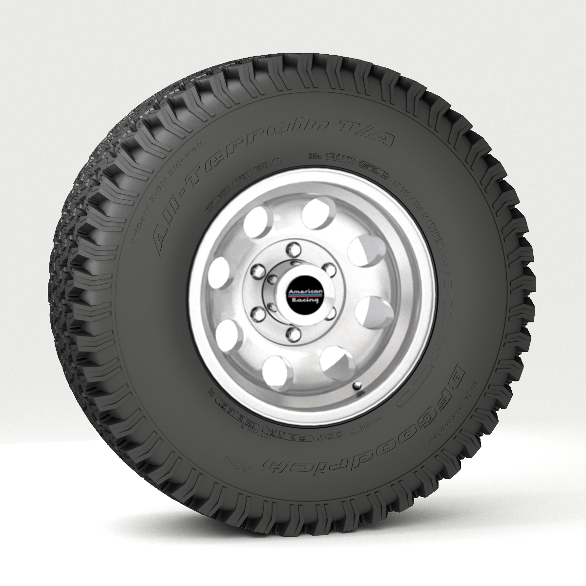 off road wheel and tire 3d model 3ds max fbx obj 224394