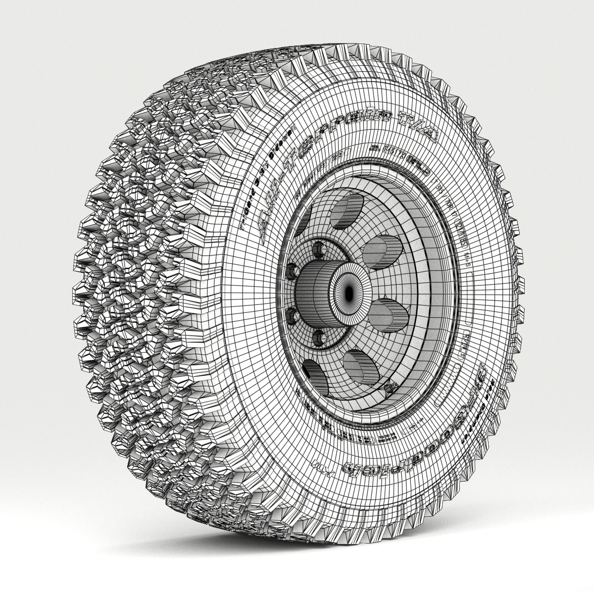 off road wheel and tire 3d model 3ds max fbx obj 224395