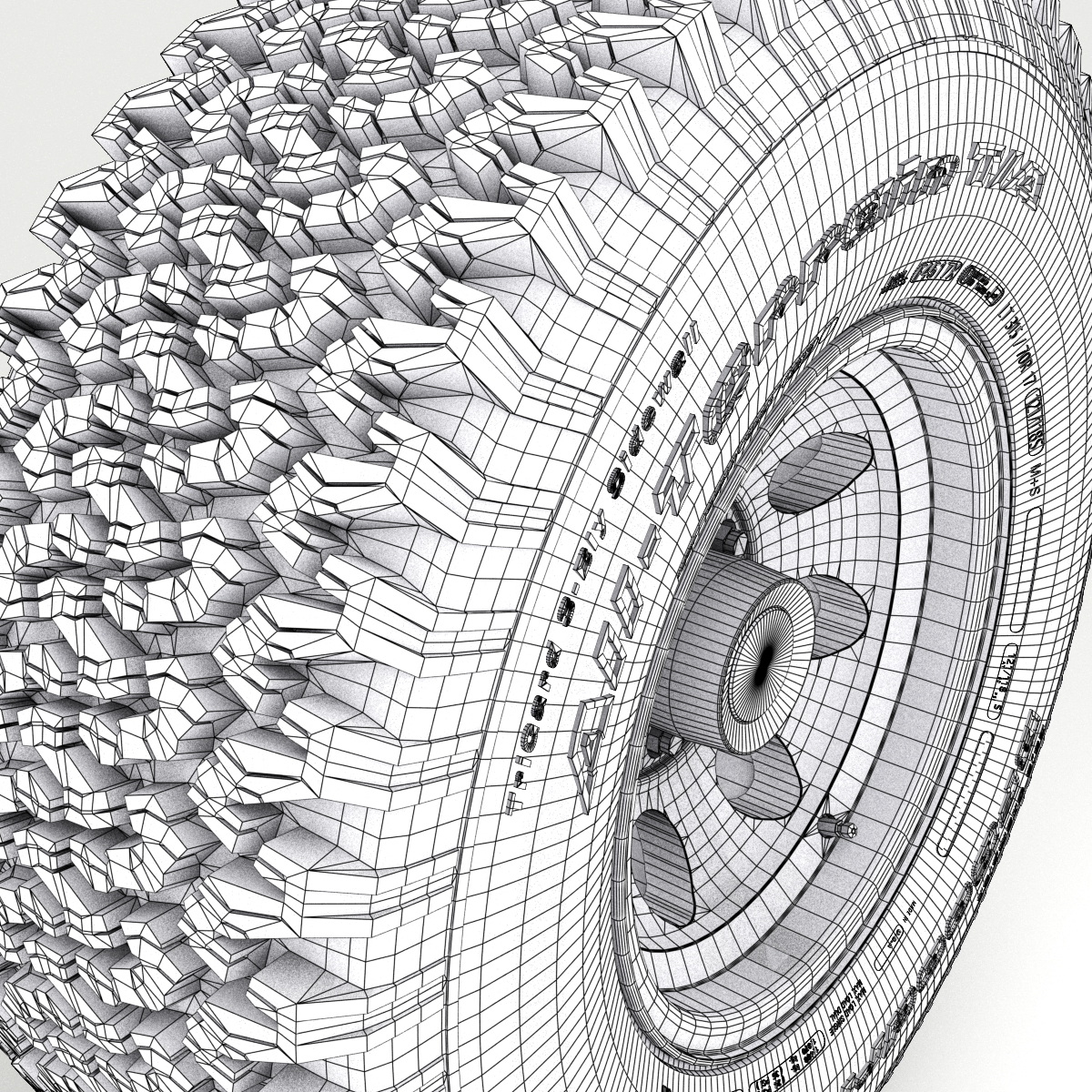 off road wheel and tire 3d model 3ds max fbx obj 224396