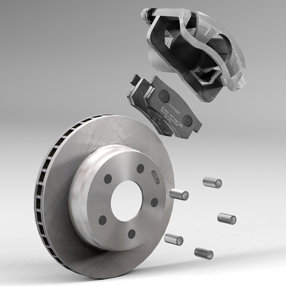 Vehicle Brake Parts : Car disc brake d model buy