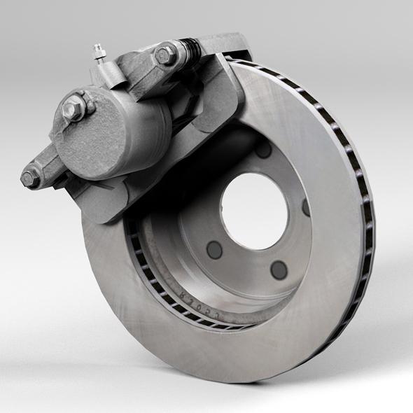 car disc brake 3d model 3ds max fbx tga targa icb vda vst pix obj 224405