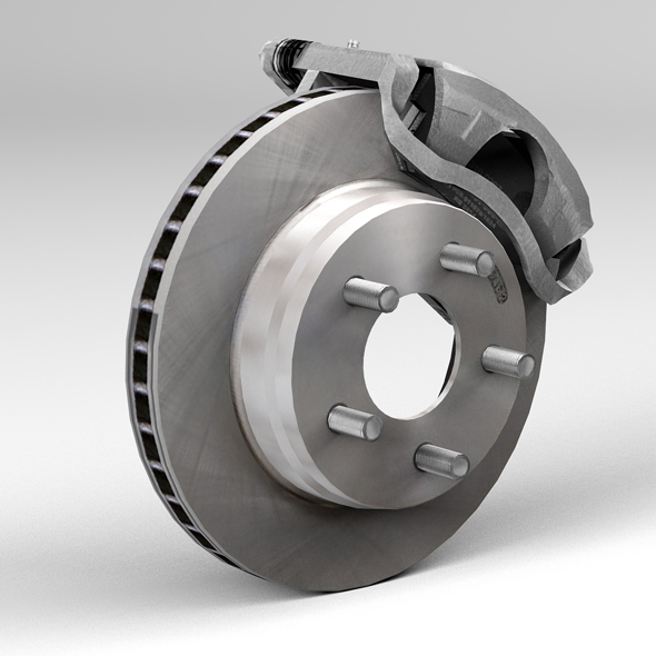 car disc brake 3d model 3ds max fbx tga targa icb vda vst pix obj 224406