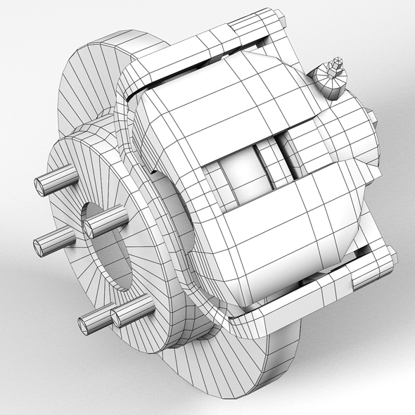 car disc brake 3d model 3ds max fbx tga targa icb vda vst pix obj 224408