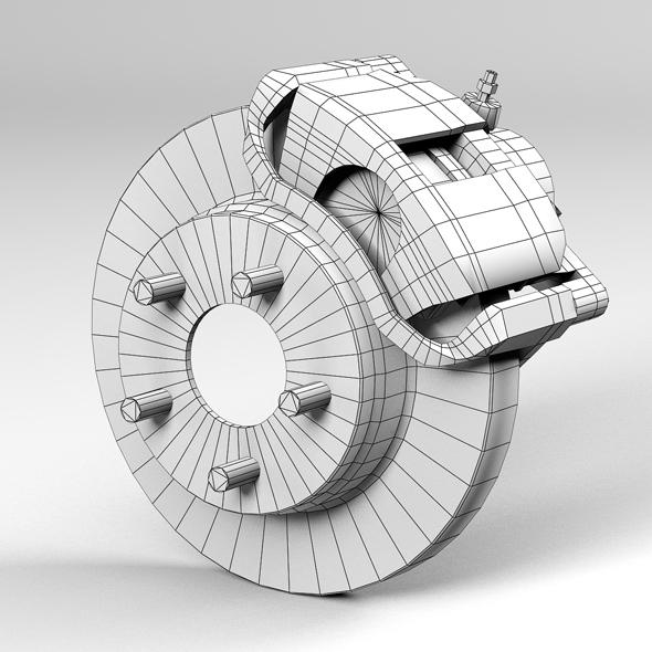 car disc brake 3d model 3ds max fbx tga targa icb vda vst pix obj 224409