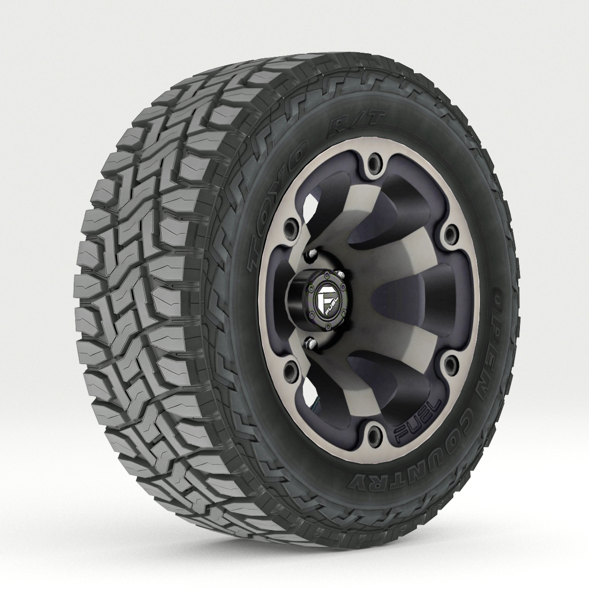off road wheel and tire 2 3d model 3ds max fbx tga targa icb vda vst pix obj 224412