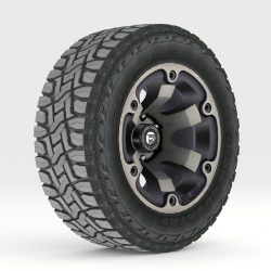 Off Road wheel and tire 2 3d model 0