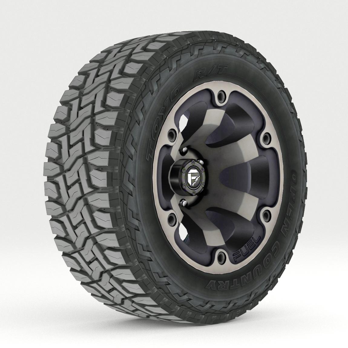 Off Road wheel and tire 2 3d model 3ds max fbx tga targa icb vda vst pix obj 224412