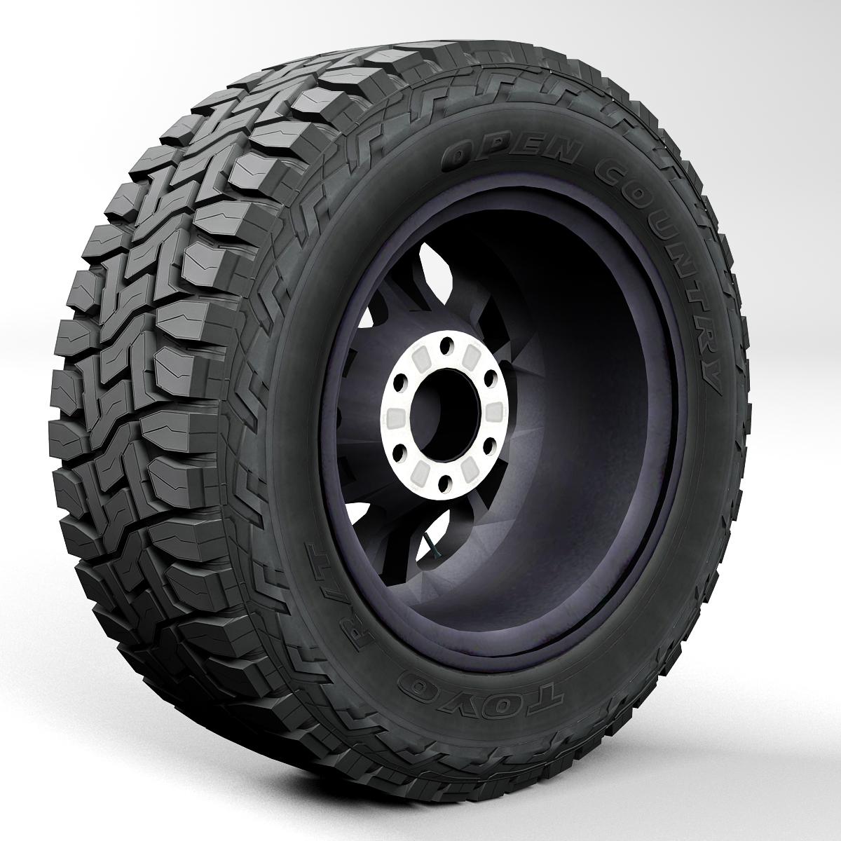 off road wheel and tire 2 3d model 3ds max fbx tga targa icb vda vst pix obj 224415