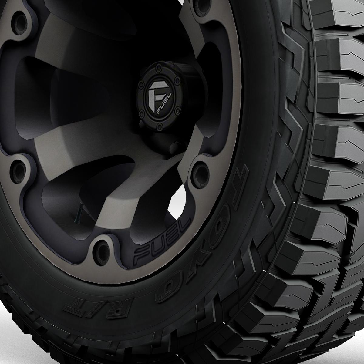 off road wheel and tire 2 3d model 3ds max fbx tga targa icb vda vst pix obj 224417