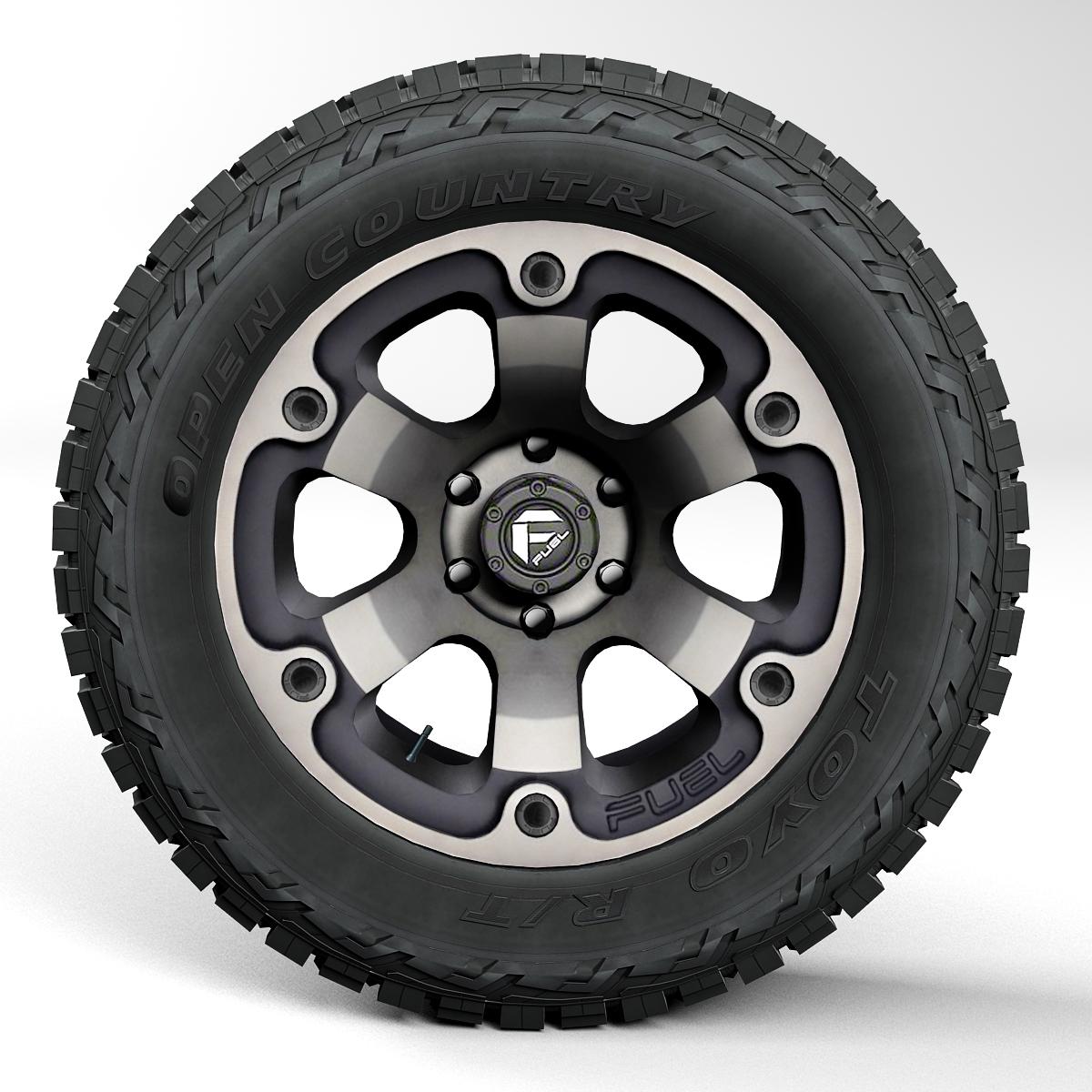 off road wheel and tire 2 3d model 3ds max fbx tga targa icb vda vst pix obj 224418