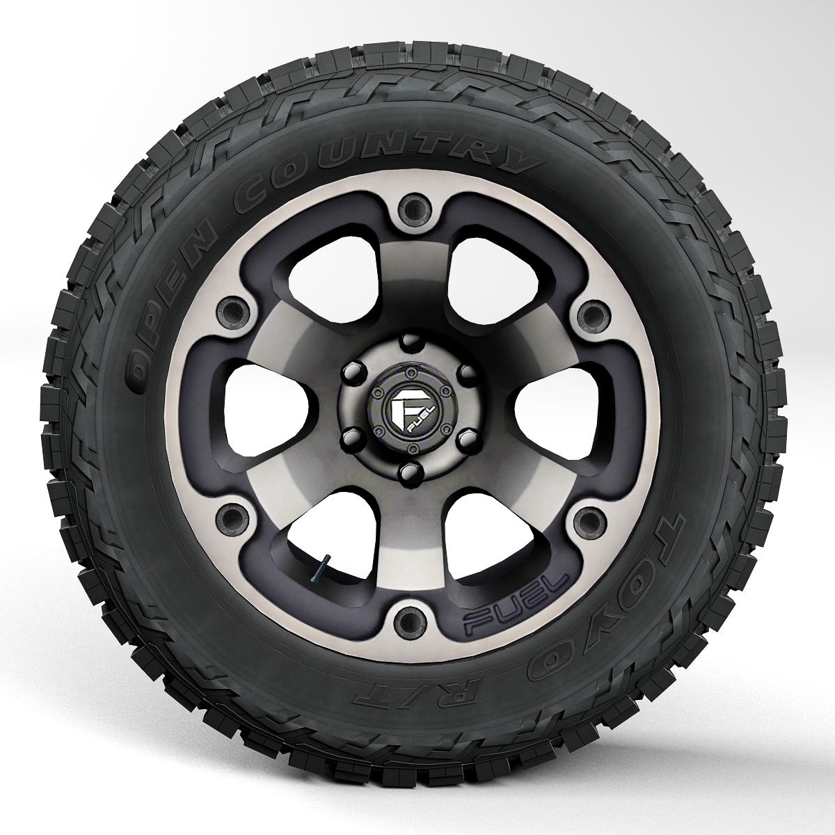 Off Road Wheel And Tire 2 3d Model Buy Off Road Wheel