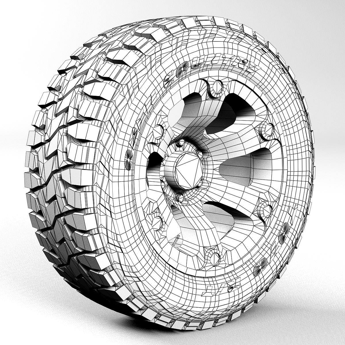 off road wheel and tire 2 3d model 3ds max fbx tga targa icb vda vst pix obj 224419