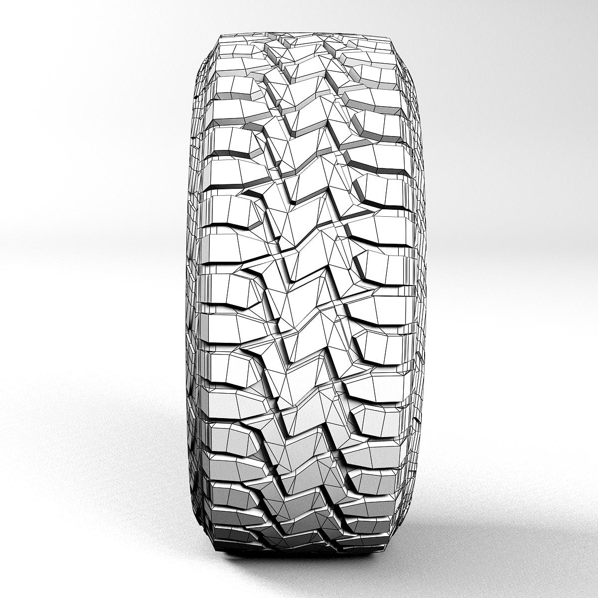 off road wheel and tire 2 3d model 3ds max fbx tga targa icb vda vst pix obj 224421