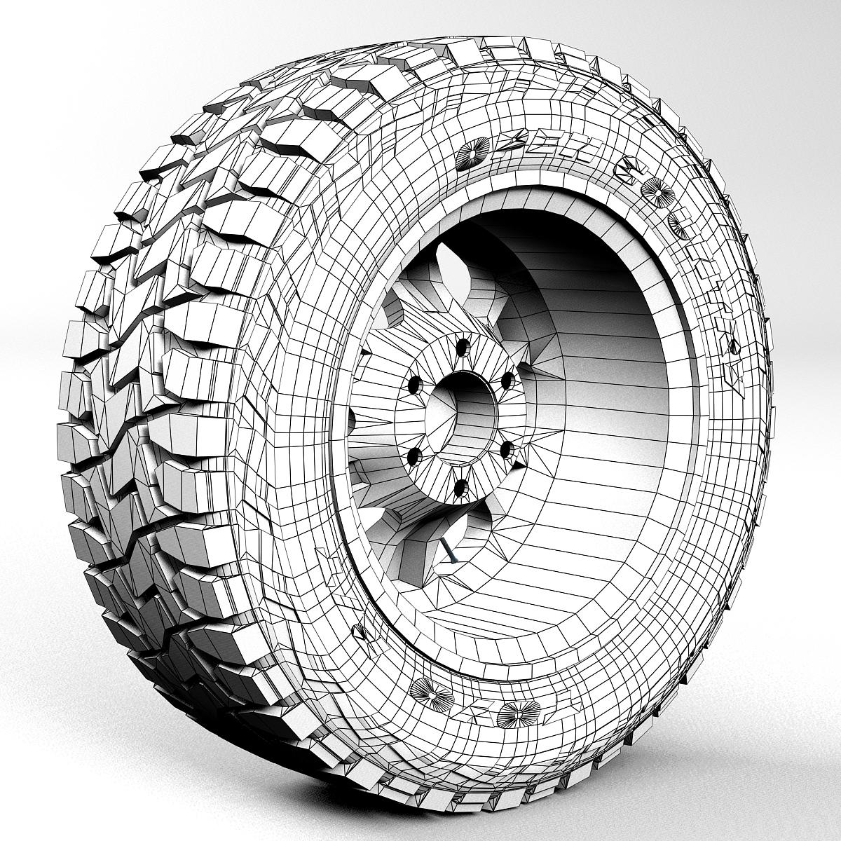 off road wheel and tire 2 3d model 3ds max fbx tga targa icb vda vst pix obj 224422