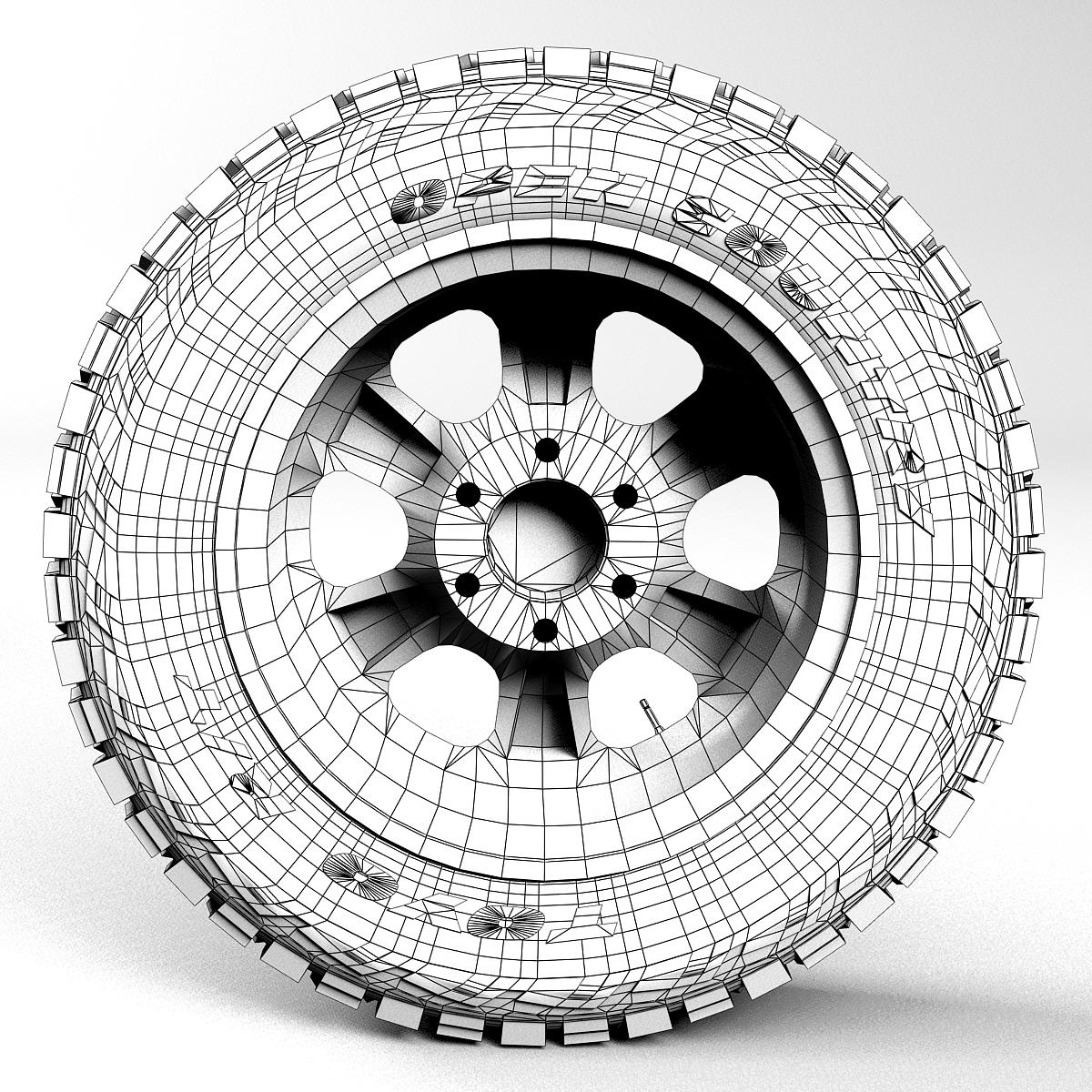 off road wheel and tire 2 3d model 3ds max fbx tga targa icb vda vst pix obj 224424