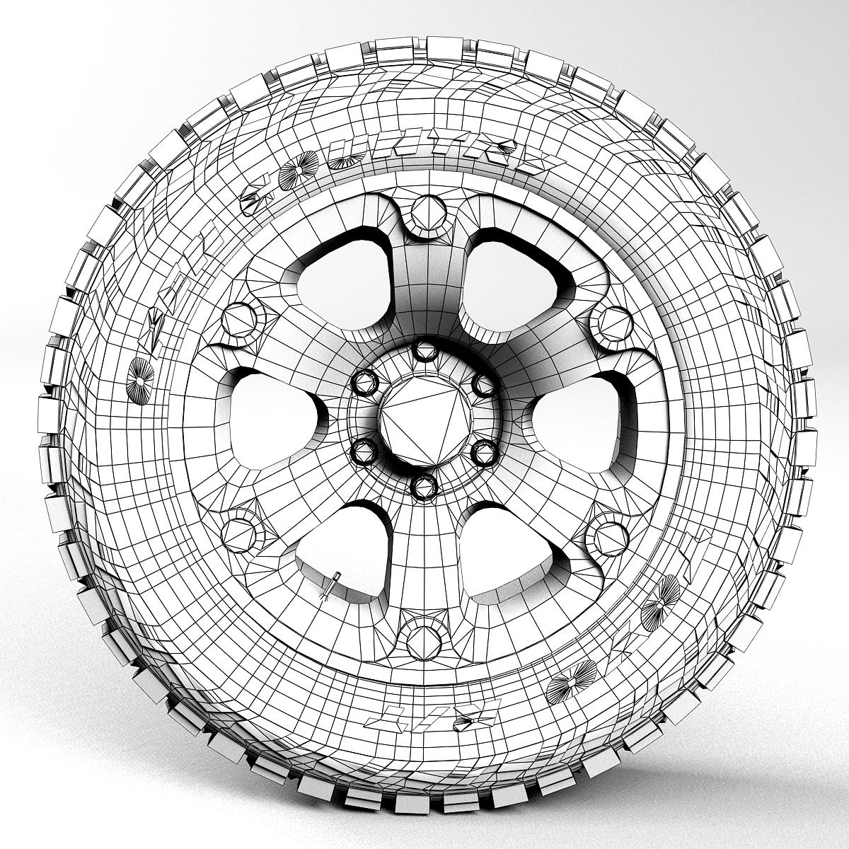 off road wheel and tire 2 3d model 3ds max fbx tga targa icb vda vst pix obj 224425