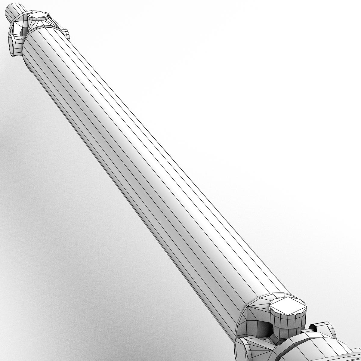 axle and driveshaft 3d model 3ds max fbx tga targa icb vda vst pix obj 224443