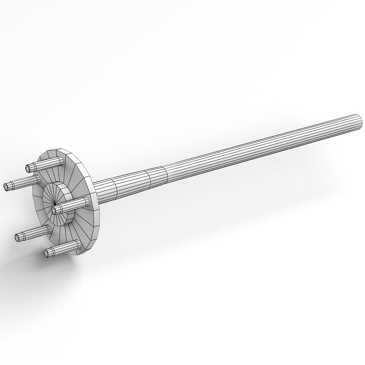 Axle and driveshaft 3d model 3ds max fbx tga targa icb vda vst pix obj 224444