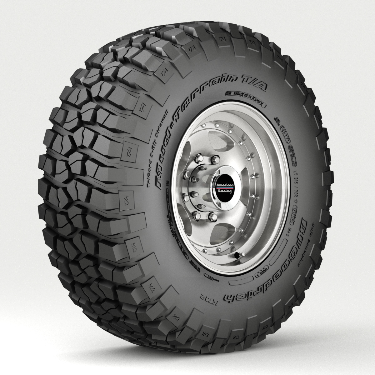 off road wheel and tire 3 3d model 3ds max fbx tga targa icb vda vst pix obj 224446