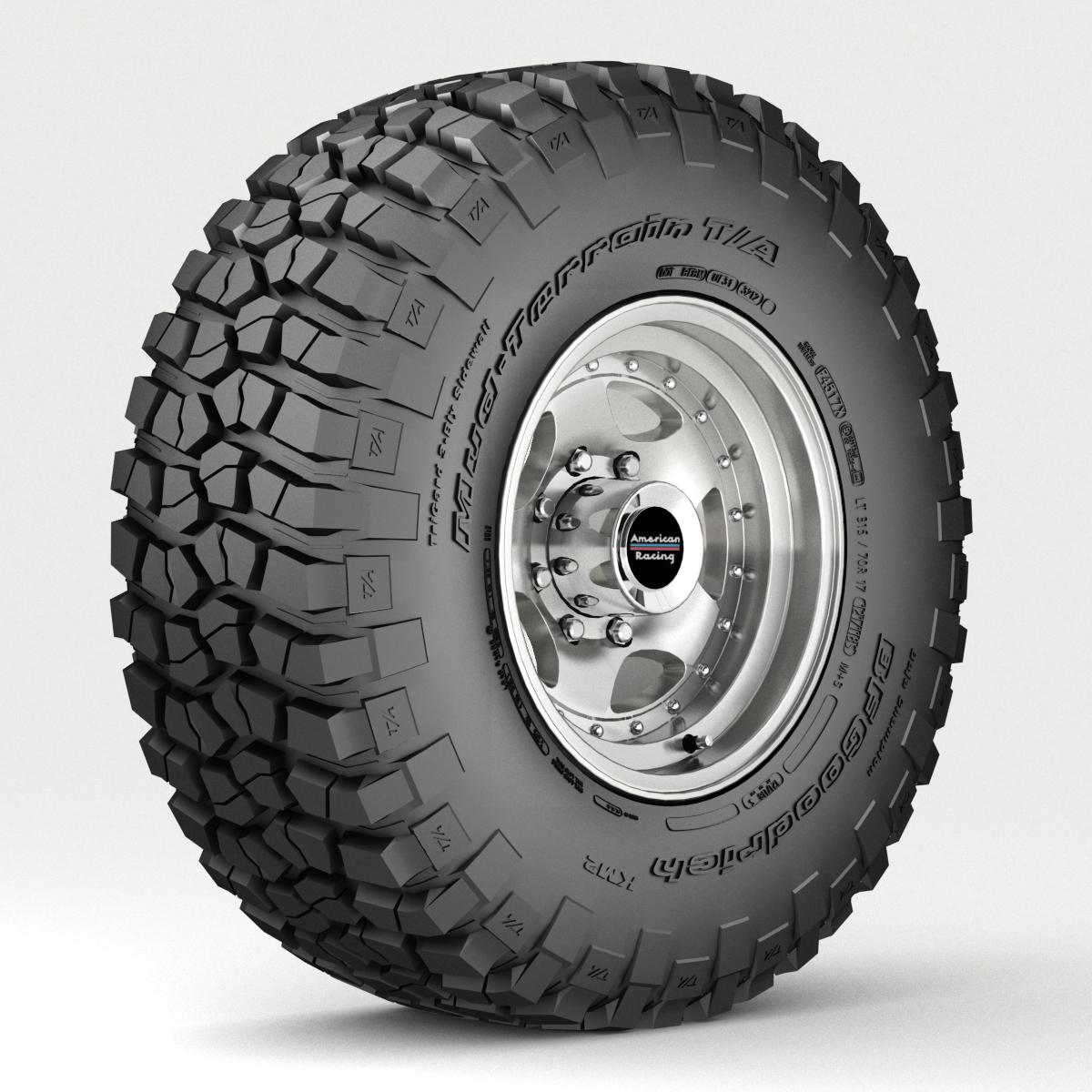 Off Road wheel and tire 3 3d model 3ds max fbx tga targa icb vda vst pix obj 224446