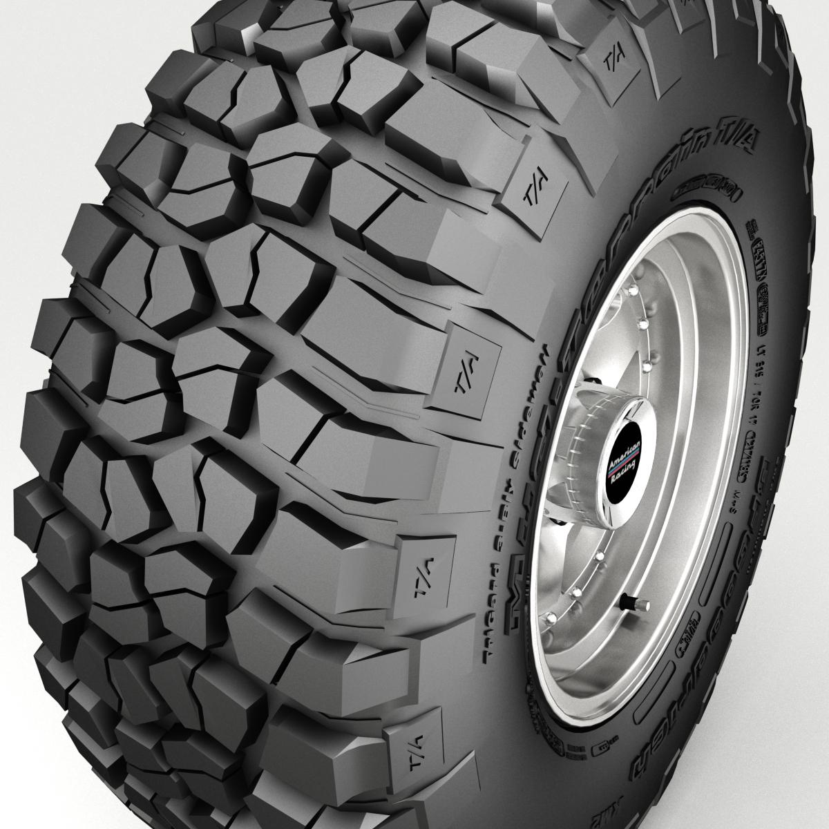 off road wheel and tire 3 3d model 3ds max fbx tga targa icb vda vst pix obj 224448