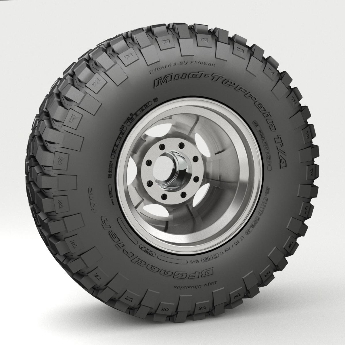 off road wheel and tire 3 3d model 3ds max fbx tga targa icb vda vst pix obj 224449