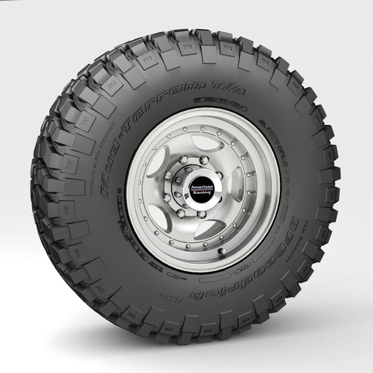 off road wheel and tire 3 3d model 3ds max fbx tga targa icb vda vst pix obj 224450