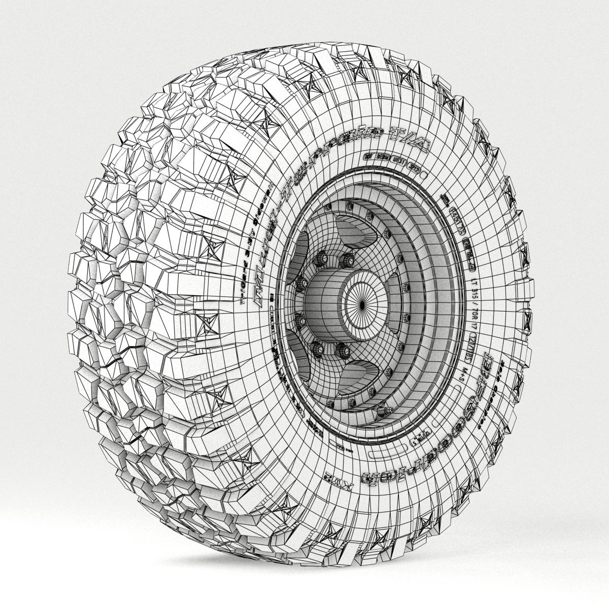 off road wheel and tire 3 3d model 3ds max fbx tga targa icb vda vst pix obj 224451