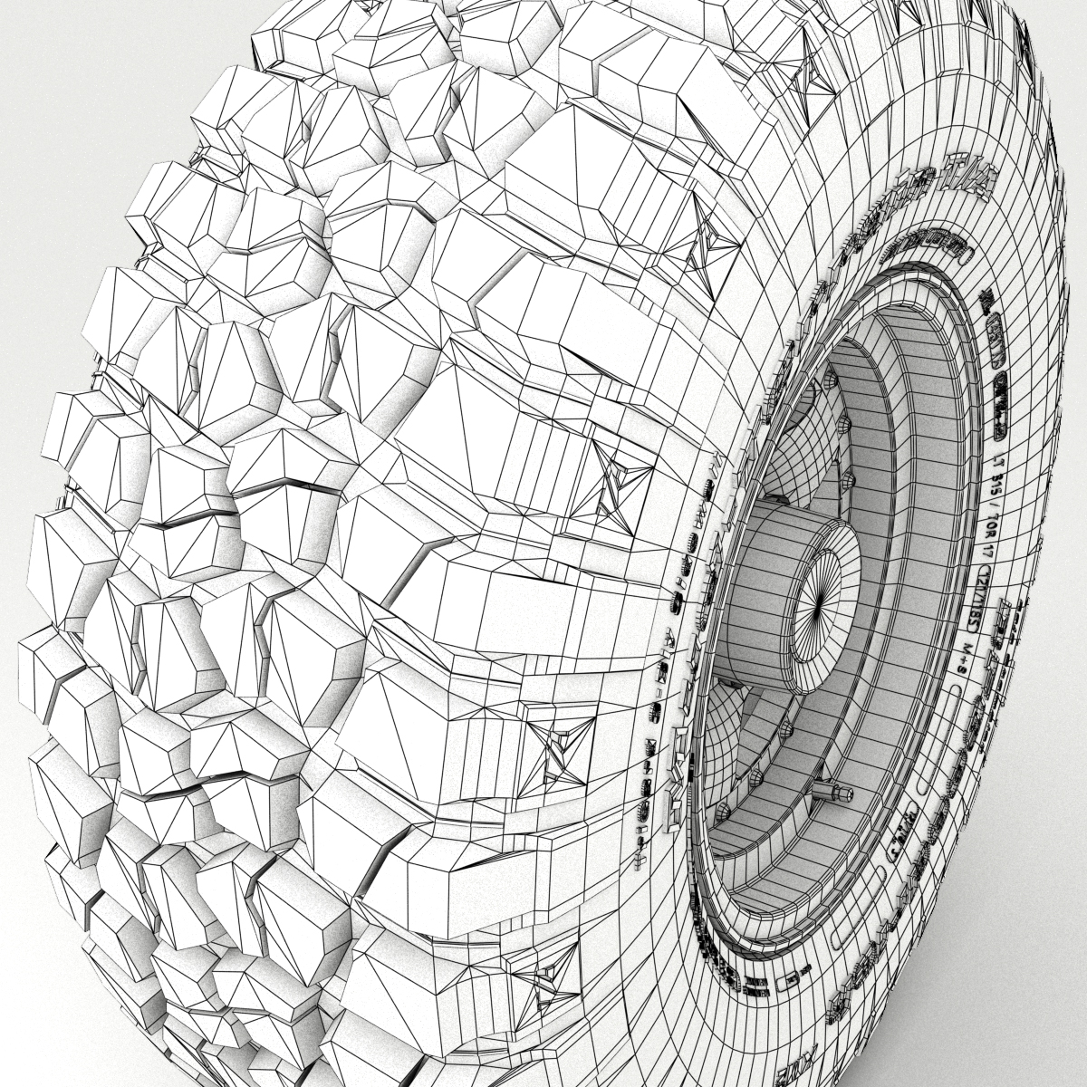 off road wheel and tire 3 3d model 3ds max fbx tga targa icb vda vst pix obj 224453