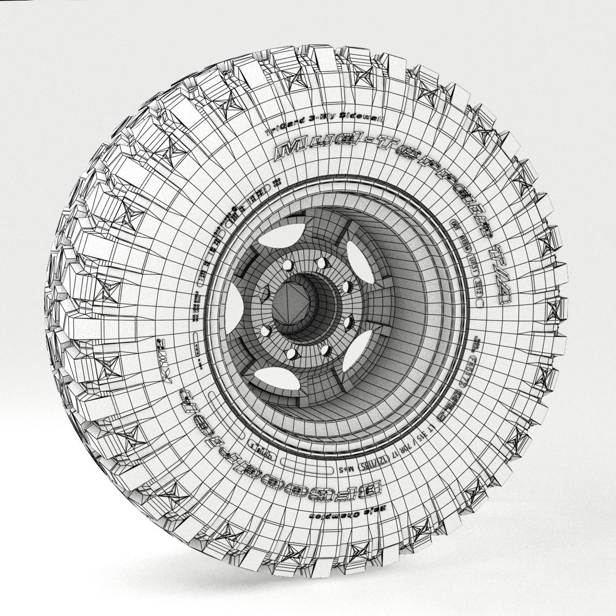 off road wheel and tire 3 3d model 3ds max fbx tga targa icb vda vst pix obj 224454