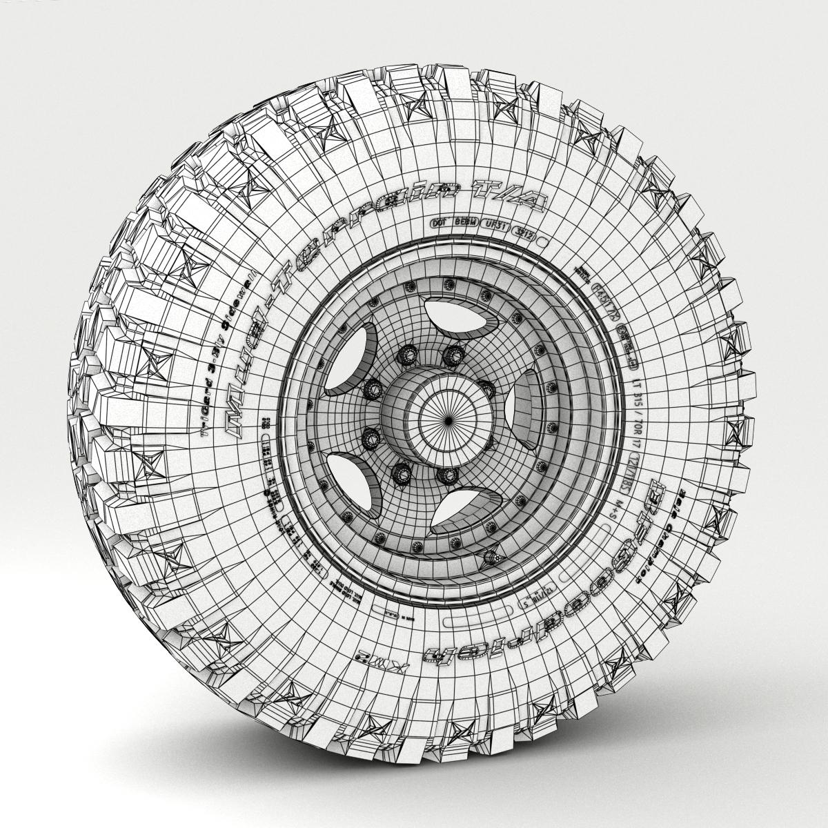 off road wheel and tire 3 3d model 3ds max fbx tga targa icb vda vst pix obj 224455