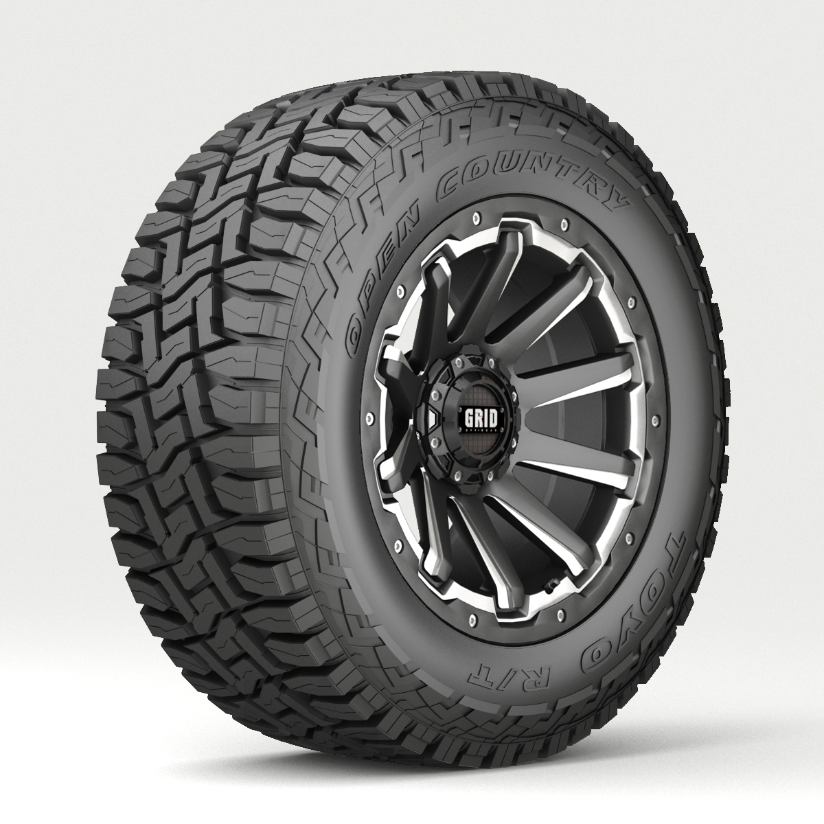 off road wheel and tire 4 3d model 3ds max fbx tga targa icb vda vst pix obj 224457