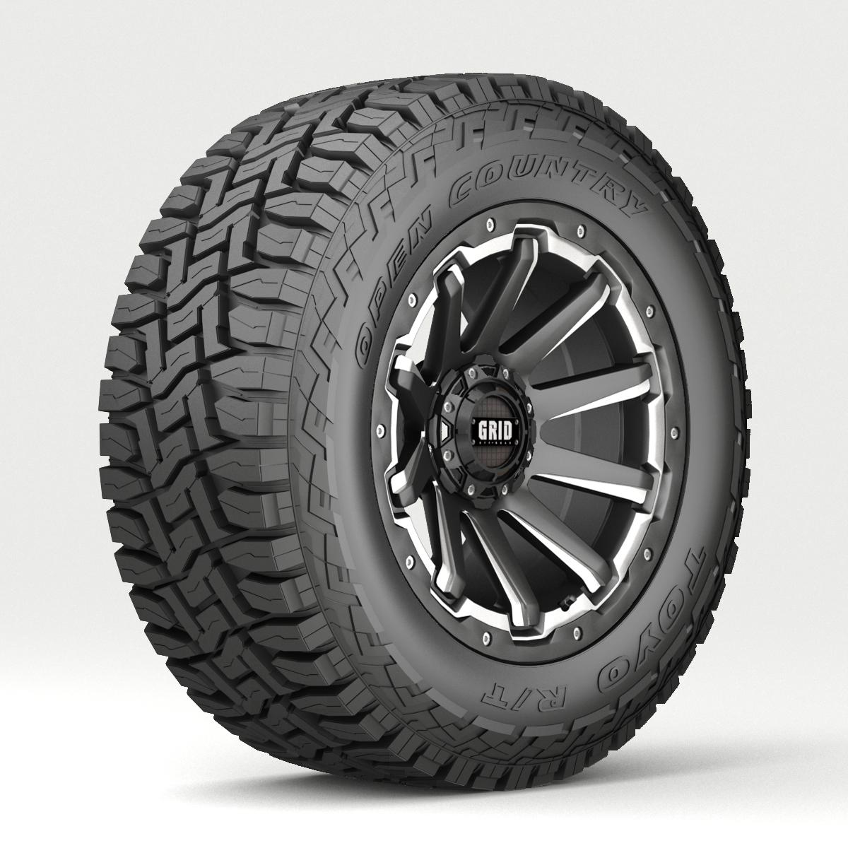 Off Road wheel and tire 4 3d model 3ds max fbx tga targa icb vda vst pix obj 224457