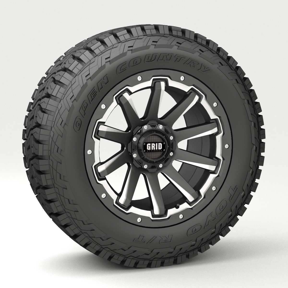 Off Road Wheel And Tire 4 3d Model Buy Off Road Wheel