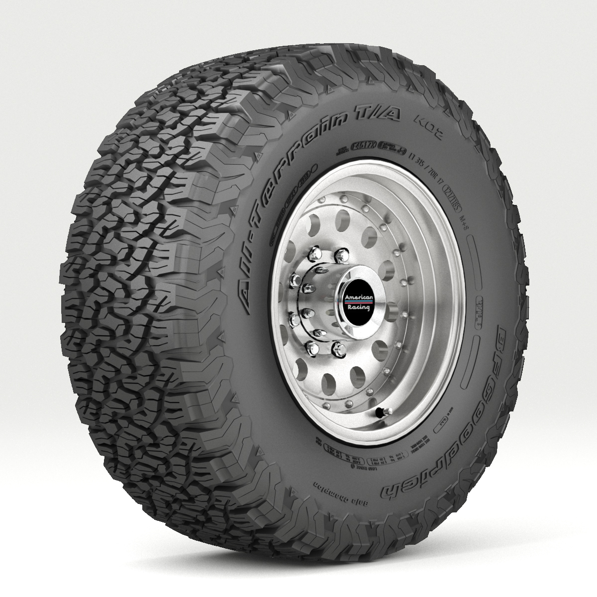off road wheel and ban 5 3d model 3ds max fbx tga targa icb vda pix obj 224470