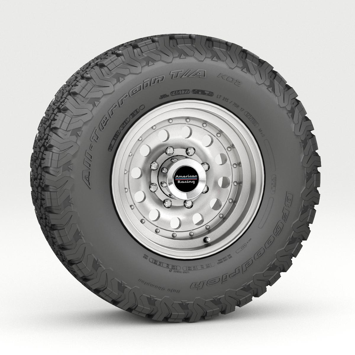 off road wheel and tire 5 3d model 3ds max fbx tga targa icb vda vst pix obj 224473