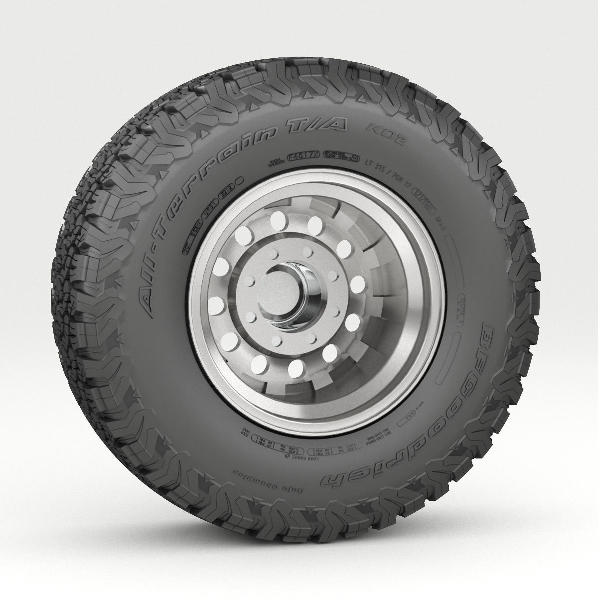 off road wheel and tire 5 3d model 3ds max fbx tga targa icb vda vst pix obj 224474