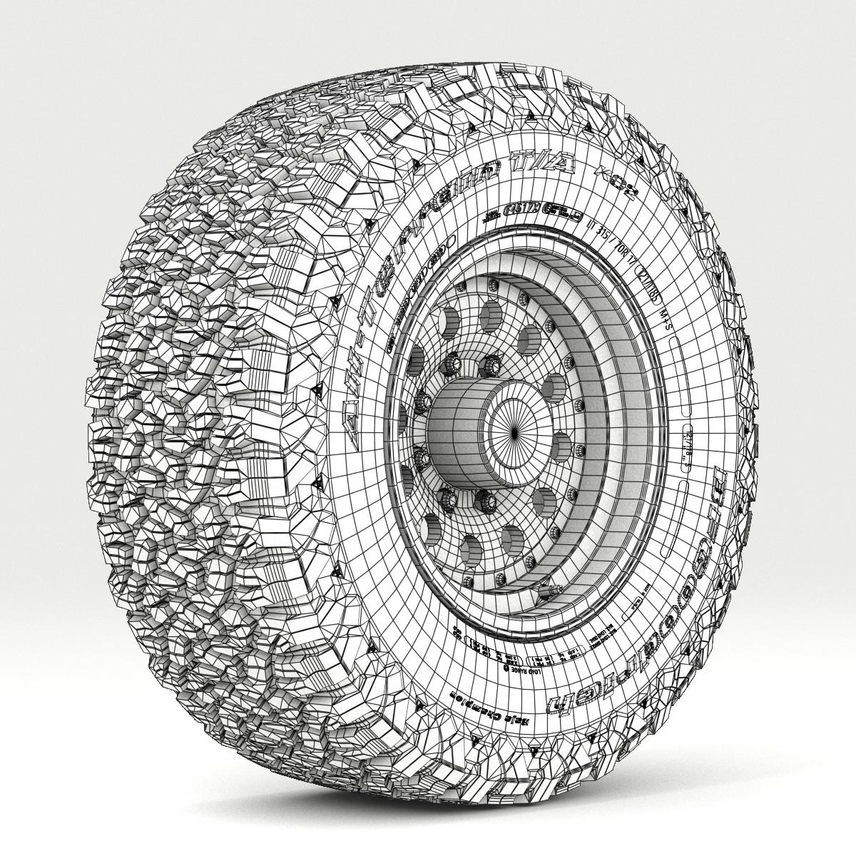 off road wheel and tire 5 3d model 3ds max fbx tga targa icb vda vst pix obj 224475