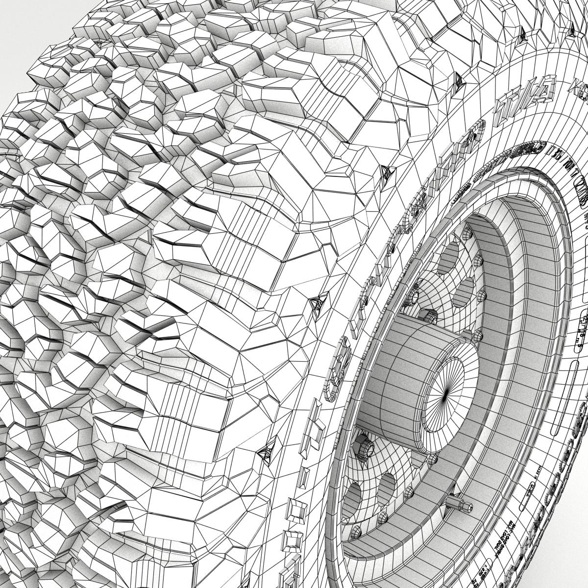off road wheel and tire 5 3d model 3ds max fbx tga targa icb vda vst pix obj 224476