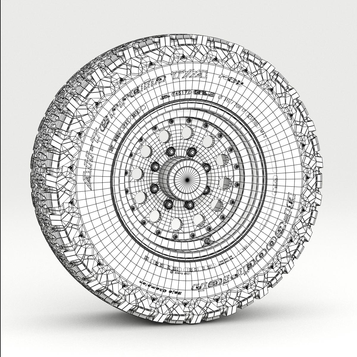 off road wheel and tire 5 3d model 3ds max fbx tga targa icb vda vst pix obj 224478