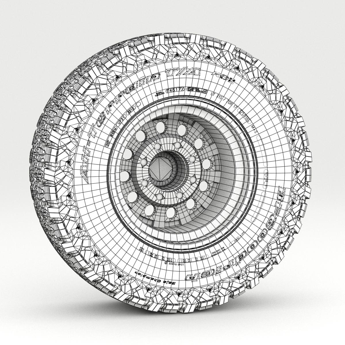 off road wheel and tire 5 3d model 3ds max fbx tga targa icb vda vst pix obj 224479